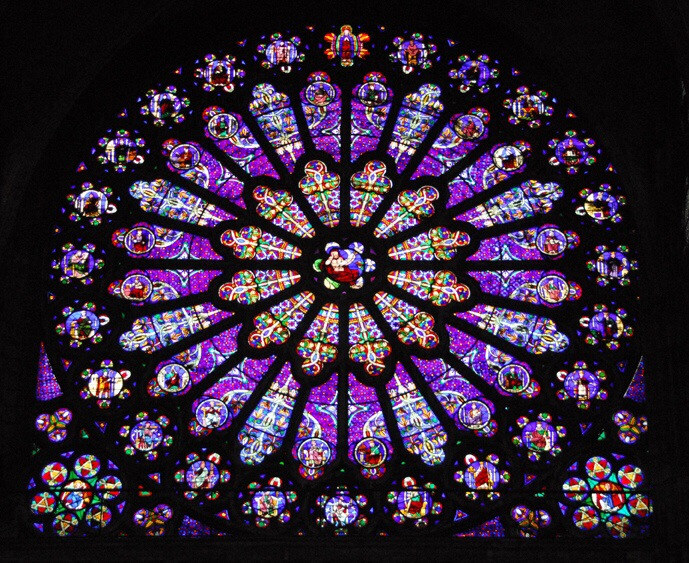 Image result for purple stained glass windows